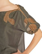 Muslin Cotton Blouse With Embroidery