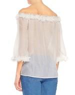 Blusa de muselina de algodón
