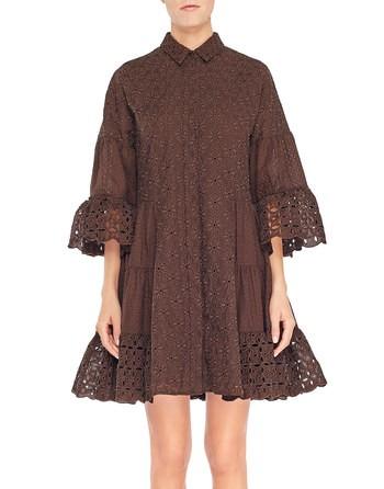 Платье-кафтан из кружева Сангалло