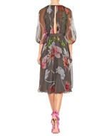 Silk Chiffon Floral Print Dress