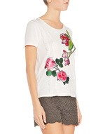 Viscose T-Shirt With Flowers