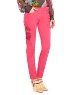 Skinny-Jeans im Five-Pocket-Stil mit Stickerei