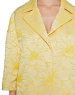 Flowery Jacquard Coat
