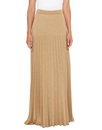 Long Pleated Lurex Jersey Dress