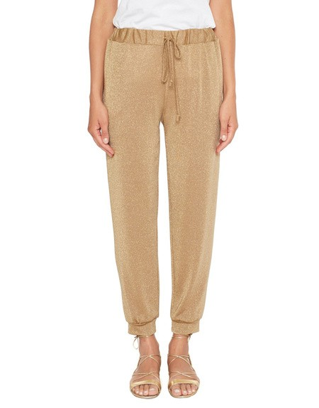 Lurex Jersey Jogging Trousers