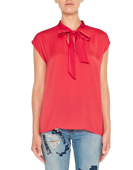 Blouse With Grosgrain Bow