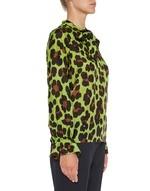 Bluse aus Seide mit Animal-Print