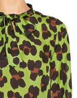 Animal Print Silk Blouse