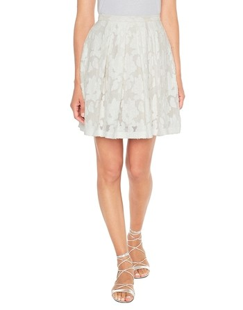 Кружевная юбка с цветочным мотивом