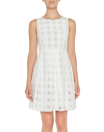Kleid aus Vichy-Organza