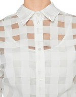 Camisa de organza de vichy