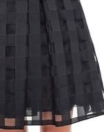 Falda de organza de vichy