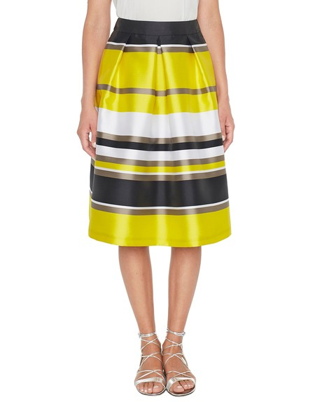 Striped Mikado Skirt