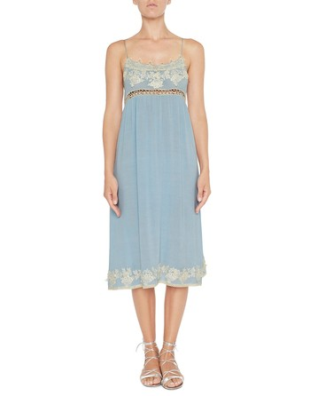 Viscose Dress With Lace