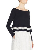 Knit Top With Ruching