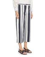 Striped Cotton Cropped Trousers