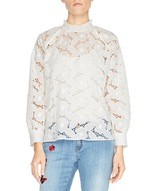 Blusa in Pizzo San Gallo a Rose