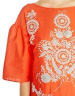Folk Motif Cotton Dress