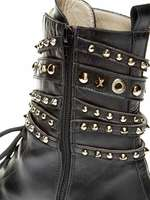 Leather Low Boot With Studs