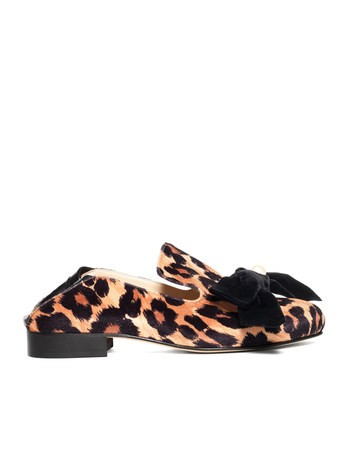 Loafer Aus Samt Mit Animalierprint