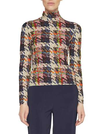 Weaving Print Jumper