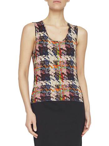 Weaving Print Top