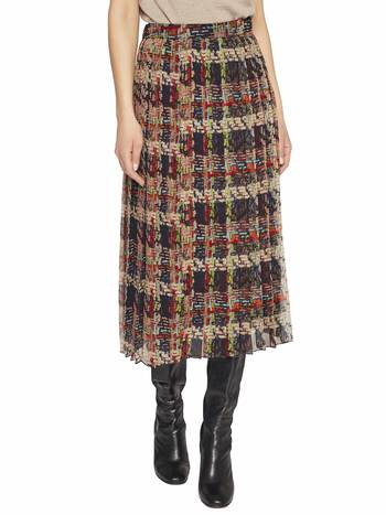 Weaving Print Chiffon Skirt