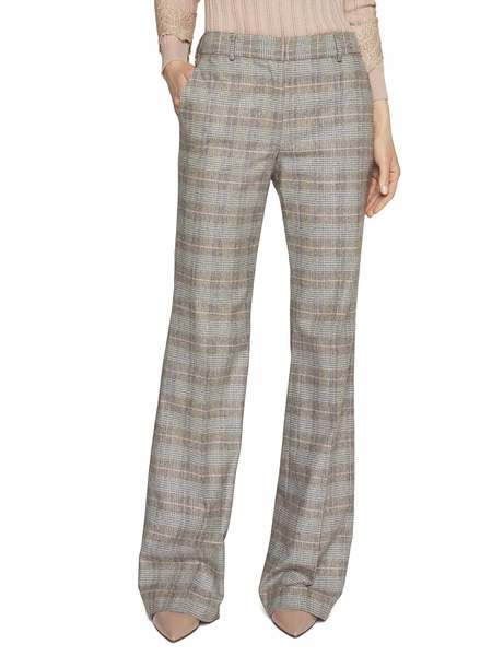 Check Print Flannel Trousers