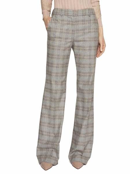 Pantalone in Flanella Stampa Check