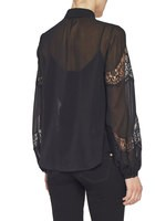 Georgette Shirt With Lace Inserts