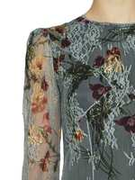 Vestido De Encaje Con Estampado De Flores