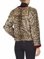 Animal-Print Marmot Fur