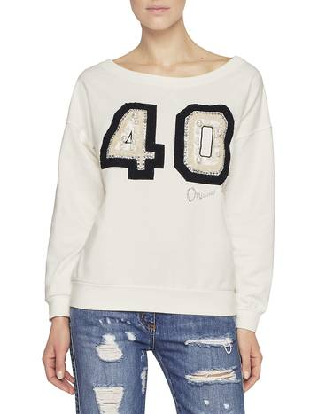 Jersey Sweatshirt With Embroidery