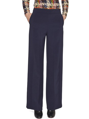 Loose-Fitting Twill Stretch Trousers