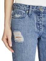 Jeans Skinny Bootcut Con Strappi