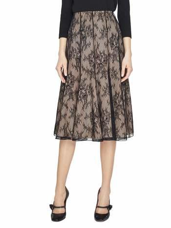 Spanish Broom Print Lace Skirt