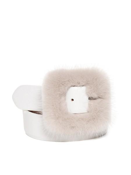 Belt With Mink Fur
