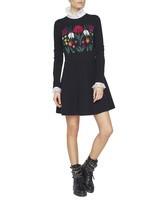 Jacquard Dress With Flowers