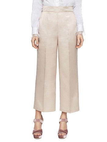 Cropped Satin Trousers