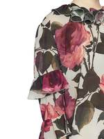 Rose Print Blouse