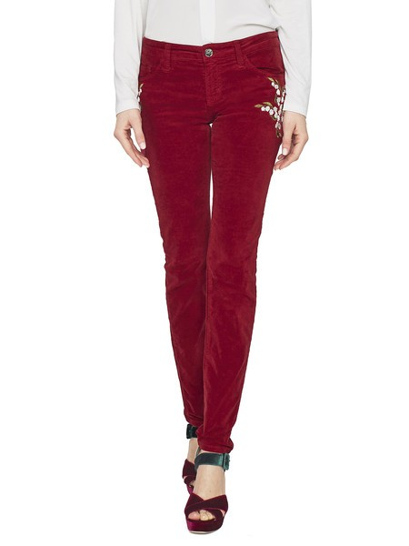 5-pocket Skinny Velvet Trousers