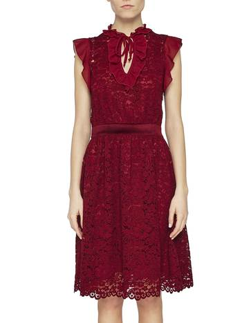 Lace Dress With Ruching
