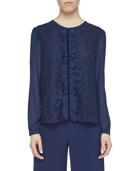 Chiffon Blouse With Lace