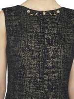 Vestido De Jacquard Con Lúrex
