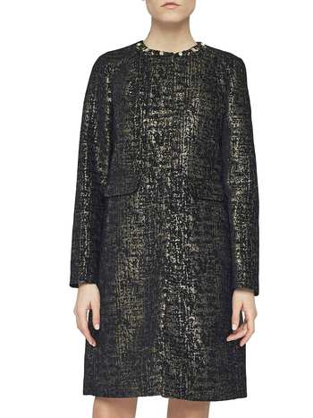 Lurex Jacquard Coat