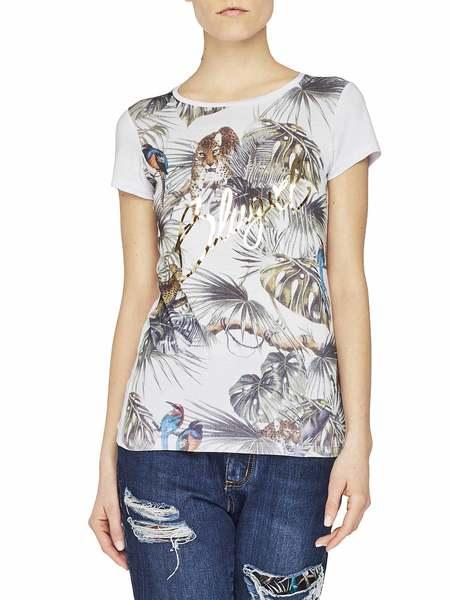 T-shirt En Jersey Stretch Avec Imprimé Jungle