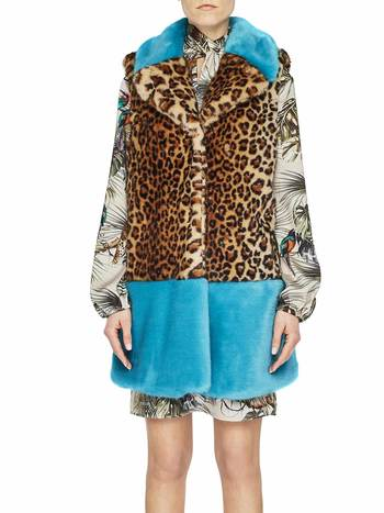 Gilet In Ecopelliccia Animalier