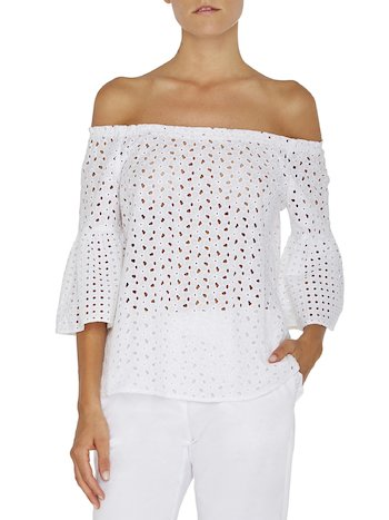 Broderie Anglaise Lace Blouse