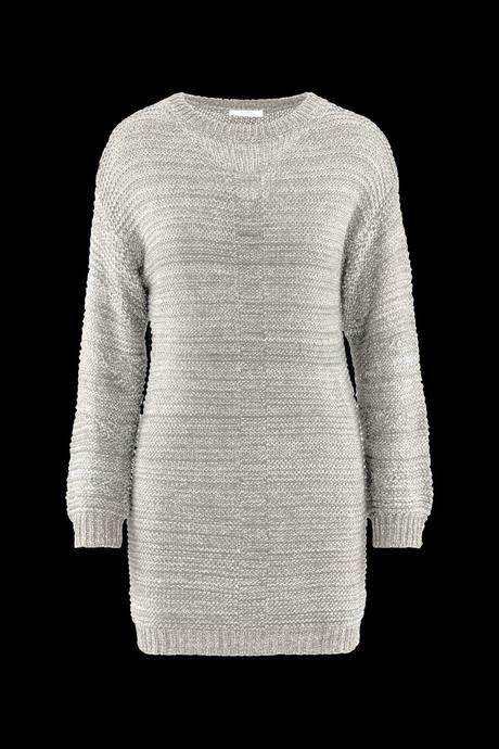 Robe tricotée pour femme, en deux couleurs.