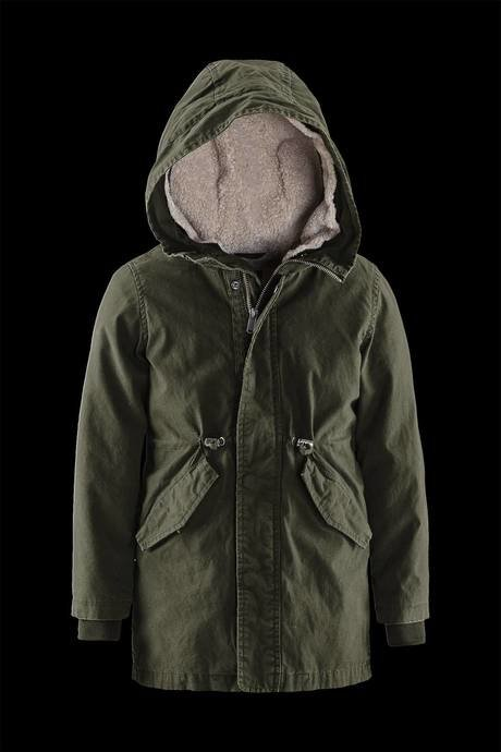 Boy parka with sherpa